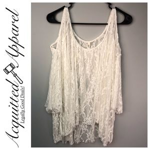 Free People | NWOT Lace Popover Shirt Top Blouse